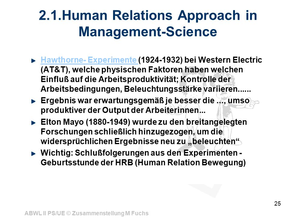 2.1.Human Relations Approach in Management-Science