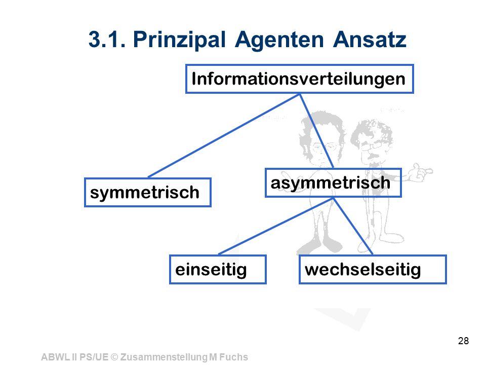 3.1. Prinzipal Agenten Ansatz