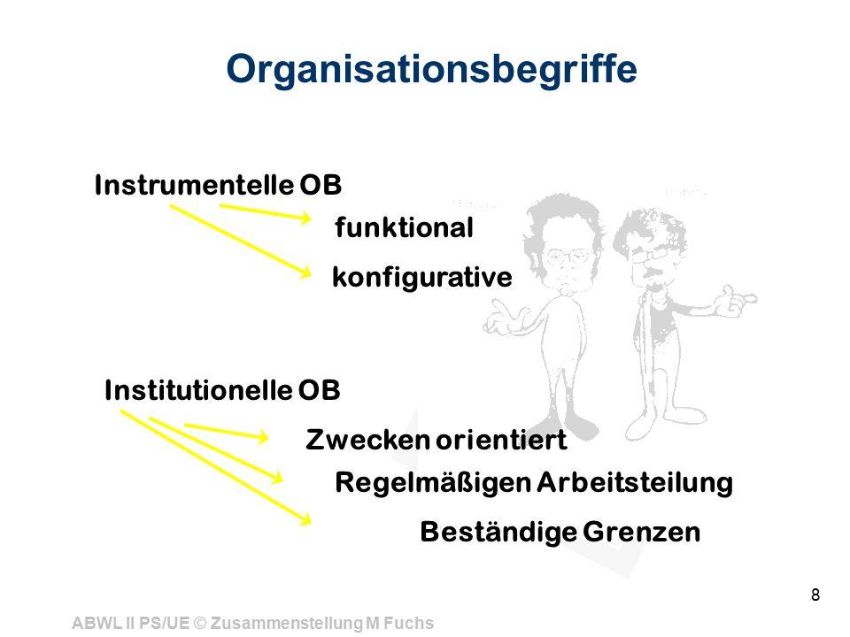 Organisationsbegriffe