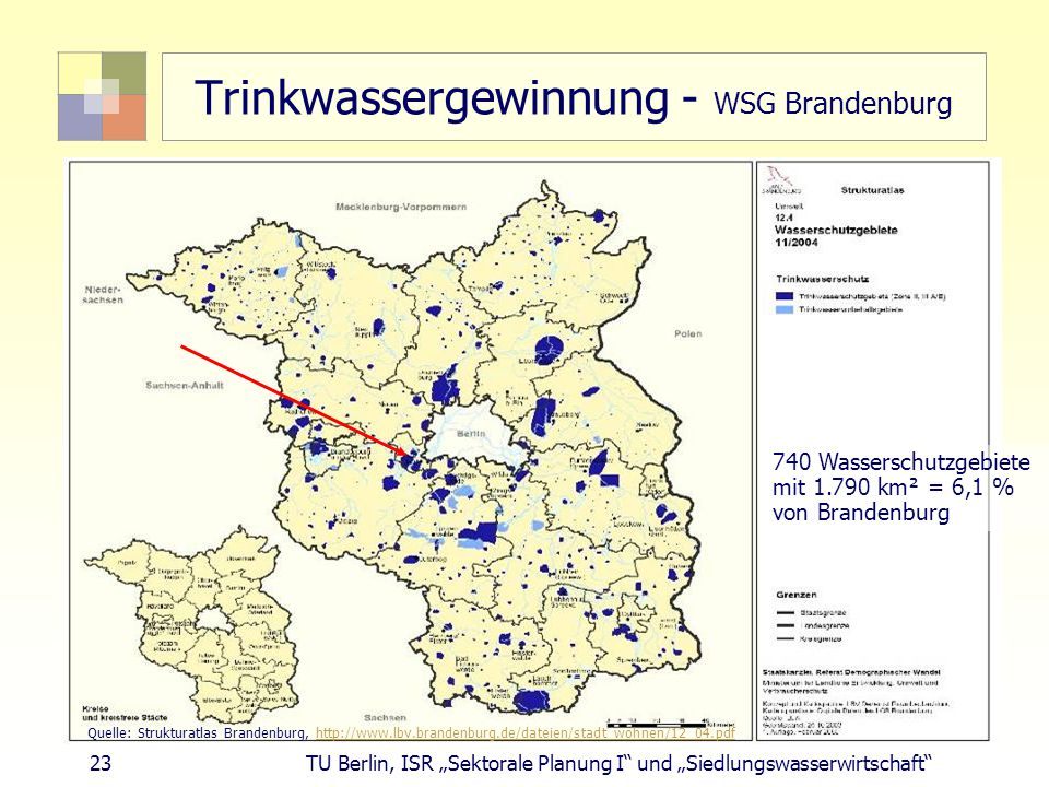 Trinkwassergewinnung - WSG Brandenburg