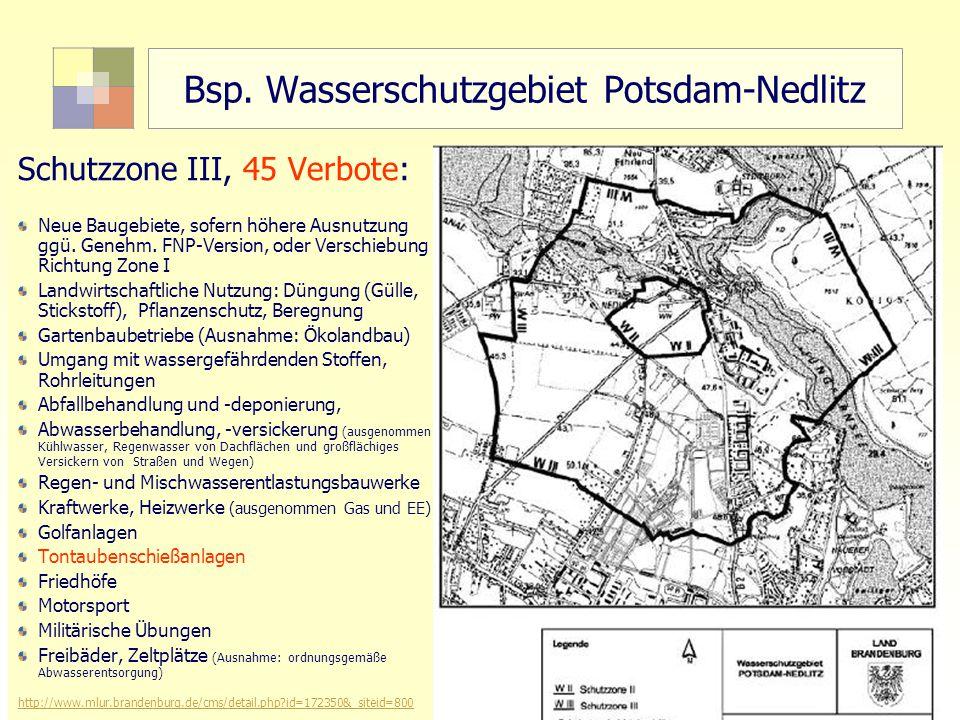 Bsp. Wasserschutzgebiet Potsdam-Nedlitz