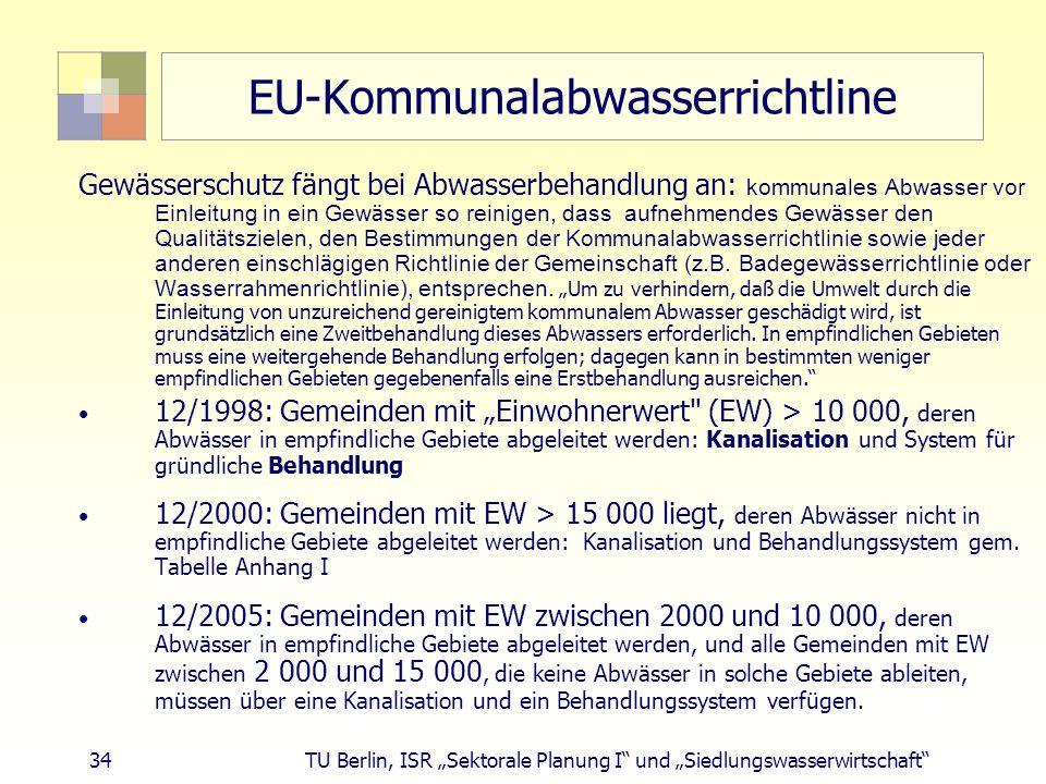 EU-Kommunalabwasserrichtline