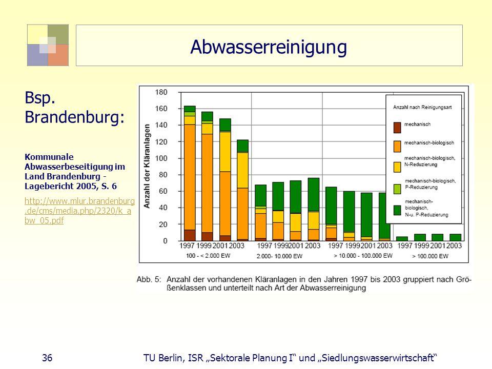 Abwasserreinigung Bsp. Brandenburg: