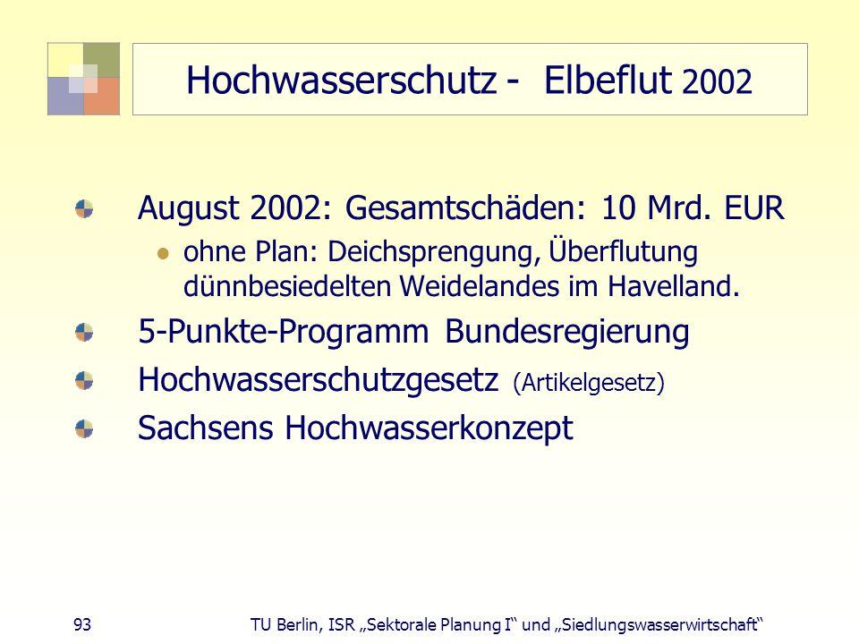 Hochwasserschutz - Elbeflut 2002