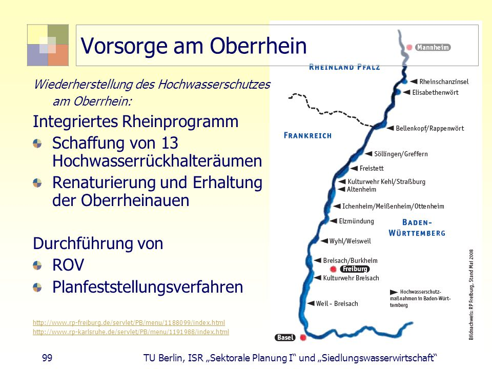 Vorsorge am Oberrhein Integriertes Rheinprogramm