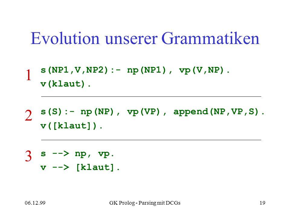 Evolution unserer Grammatiken