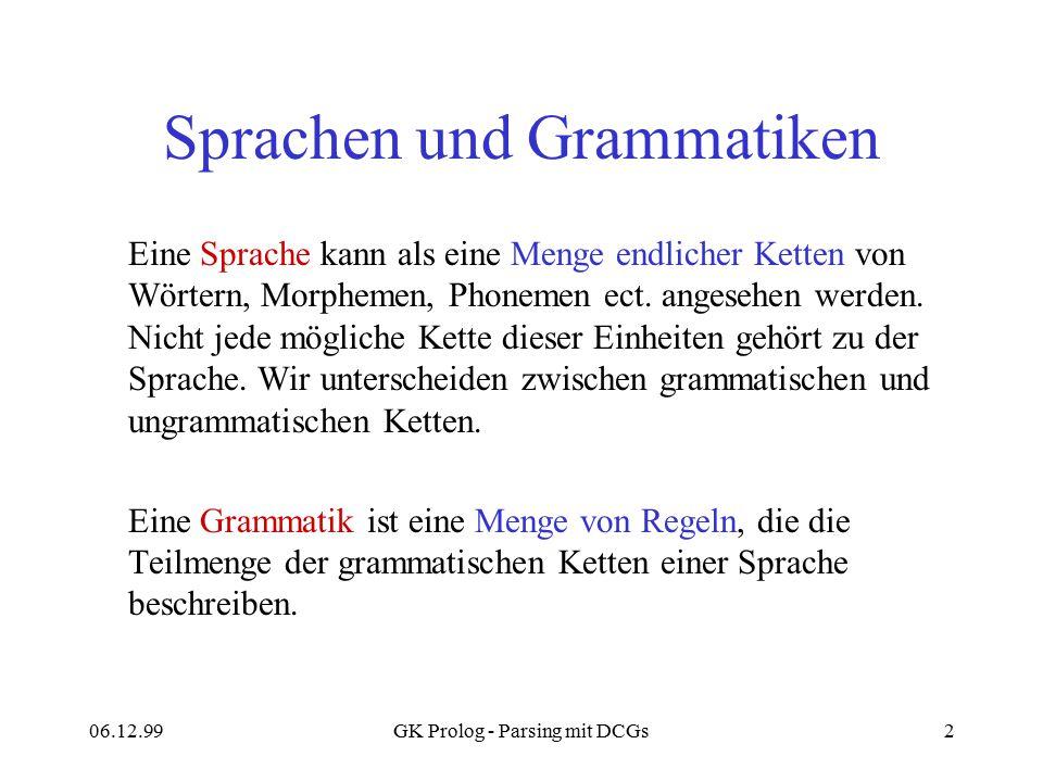 Sprachen und Grammatiken