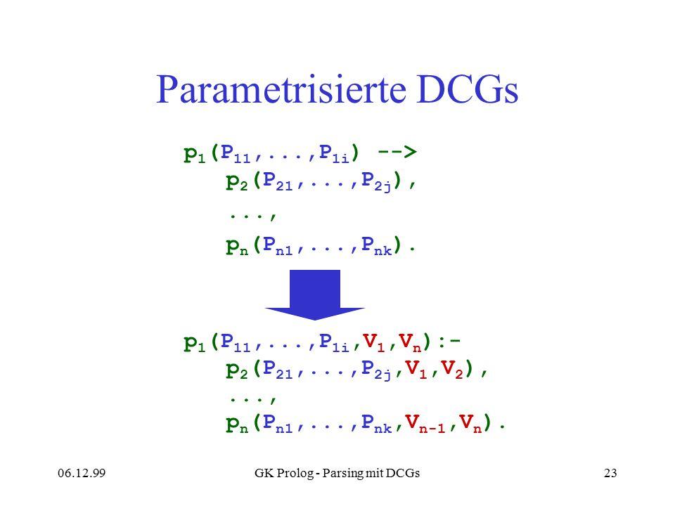 GK Prolog - Parsing mit DCGs