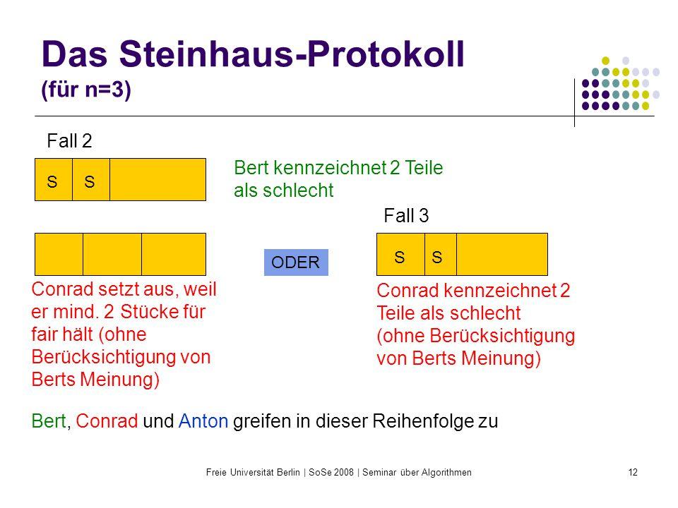 Das Steinhaus-Protokoll (für n=3)
