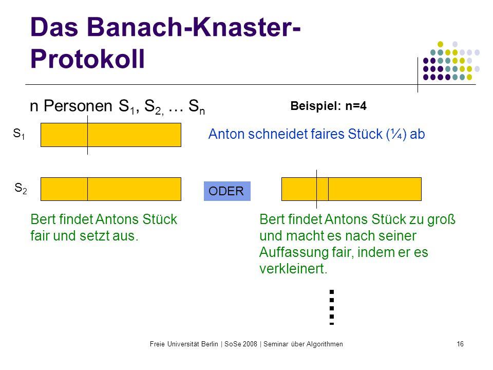 Das Banach-Knaster-Protokoll