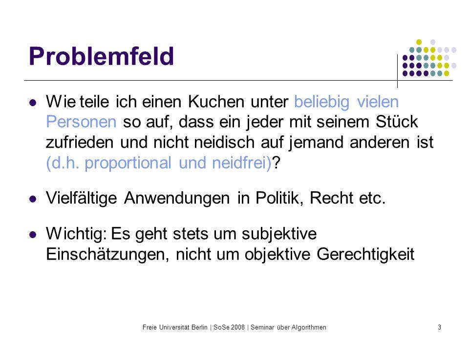 Freie Universität Berlin | SoSe 2008 | Seminar über Algorithmen