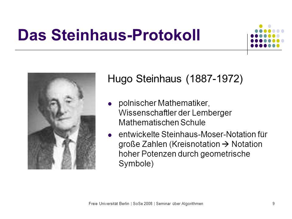 Das Steinhaus-Protokoll