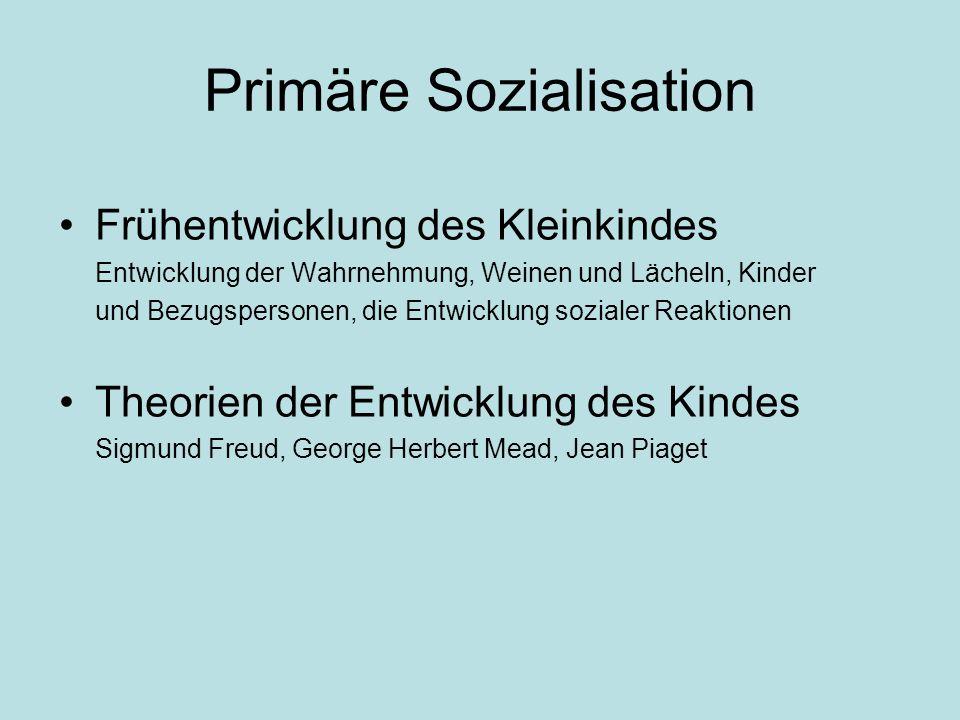 Primäre Sozialisation