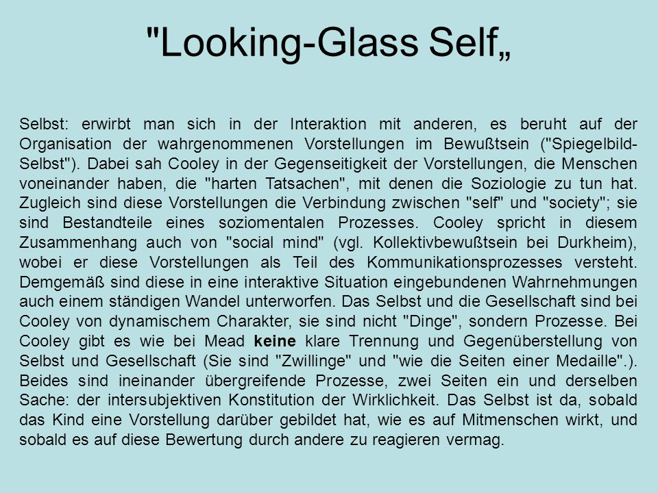 Looking-Glass Self""