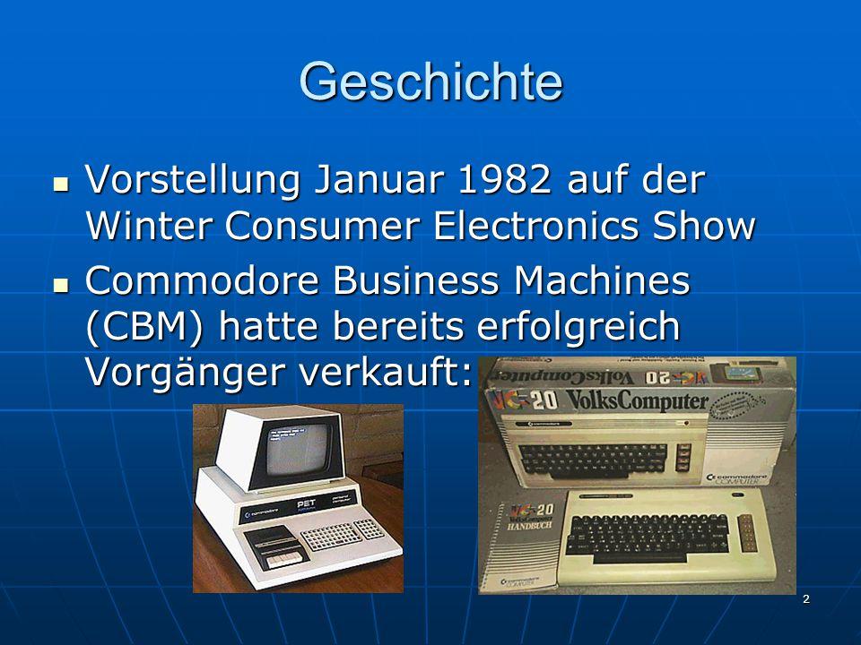 Geschichte Vorstellung Januar 1982 auf der Winter Consumer Electronics Show.