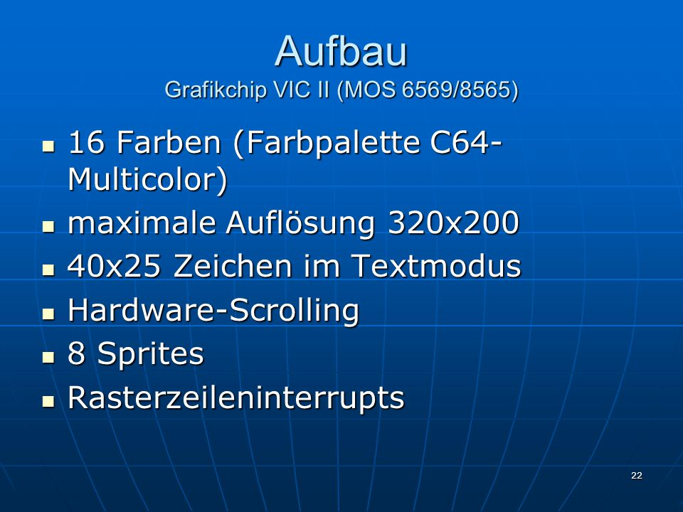 Aufbau Grafikchip VIC II (MOS 6569/8565)