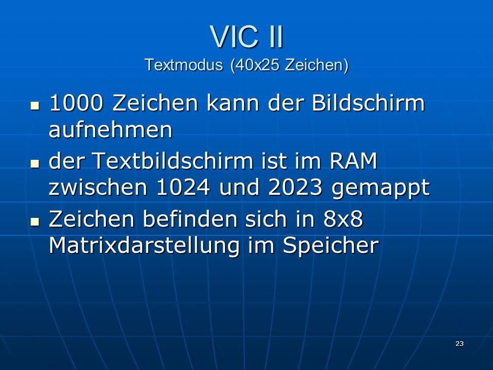 VIC II Textmodus (40x25 Zeichen)