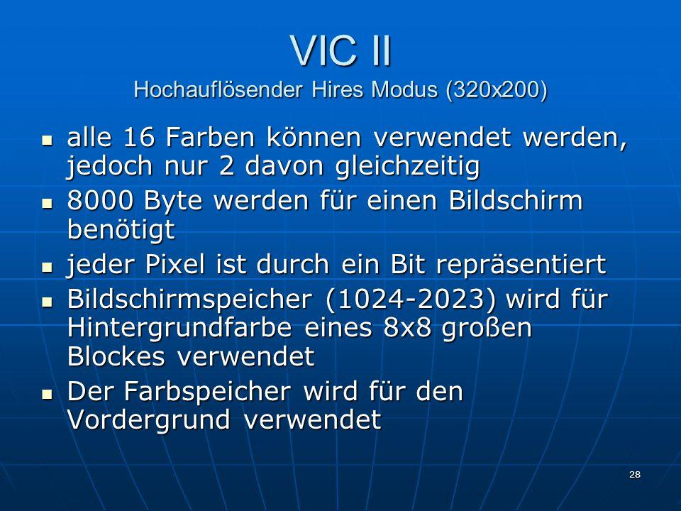 VIC II Hochauflösender Hires Modus (320x200)