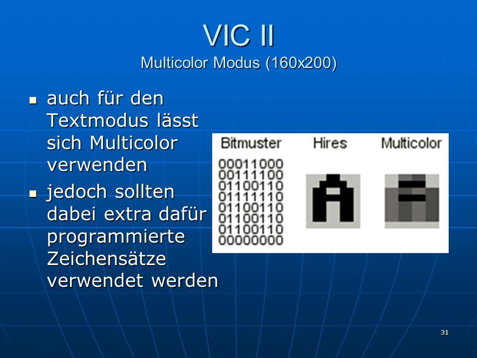VIC II Multicolor Modus (160x200)