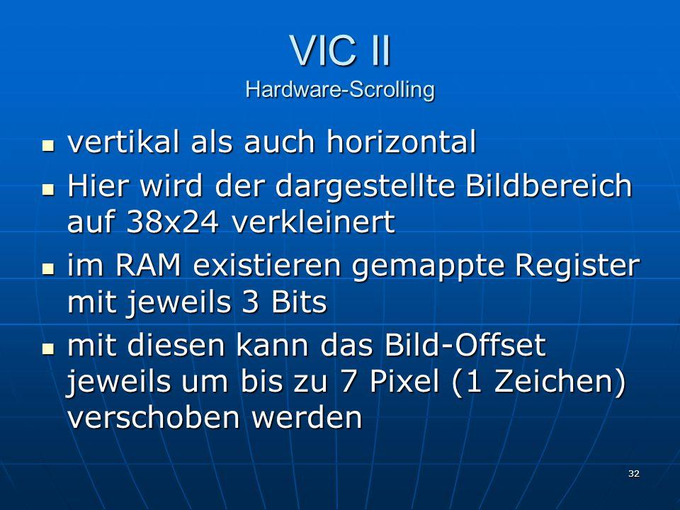 VIC II Hardware-Scrolling