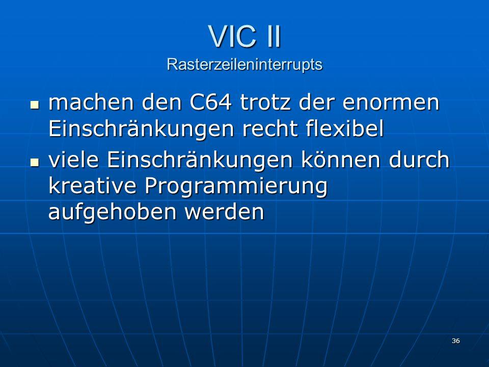 VIC II Rasterzeileninterrupts