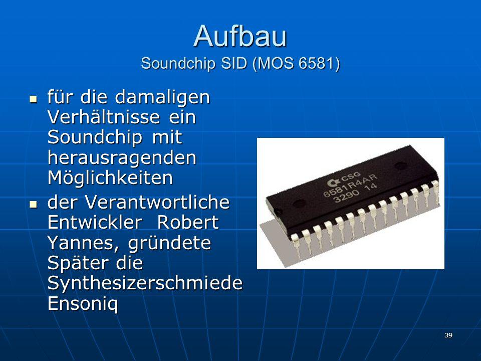 Aufbau Soundchip SID (MOS 6581)