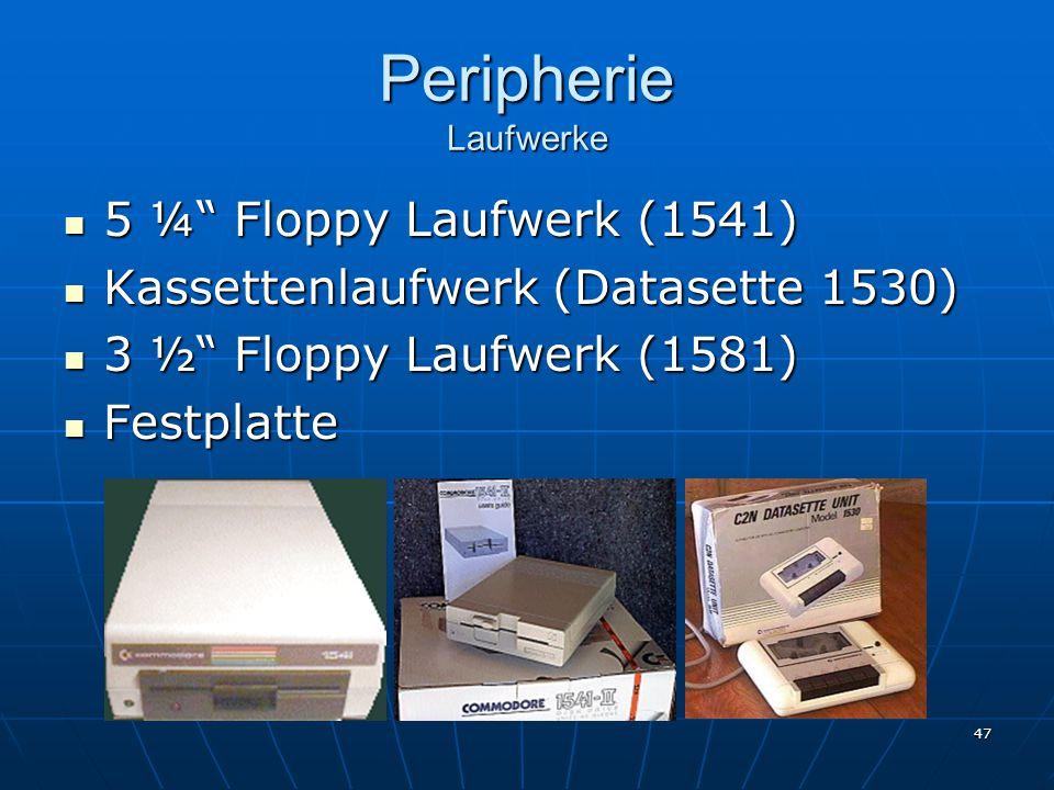 Peripherie Laufwerke 5 ¼ Floppy Laufwerk (1541)