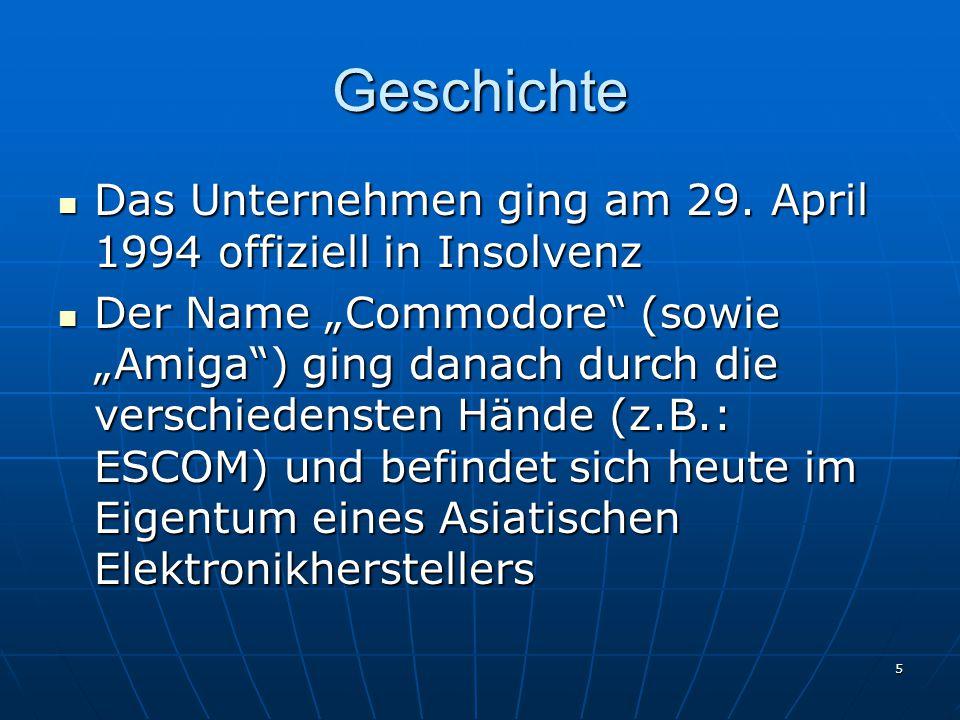 Geschichte Das Unternehmen ging am 29. April 1994 offiziell in Insolvenz.