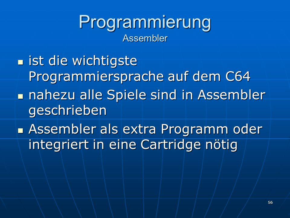 Programmierung Assembler