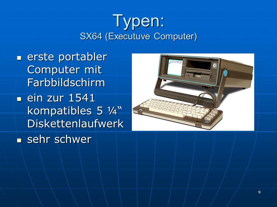 Typen: SX64 (Executuve Computer)