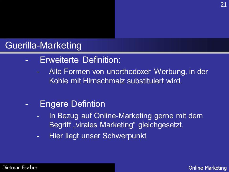 Guerilla-Marketing Erweiterte Definition: Engere Defintion