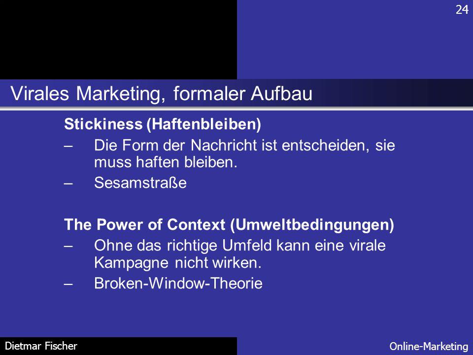 Virales Marketing, formaler Aufbau