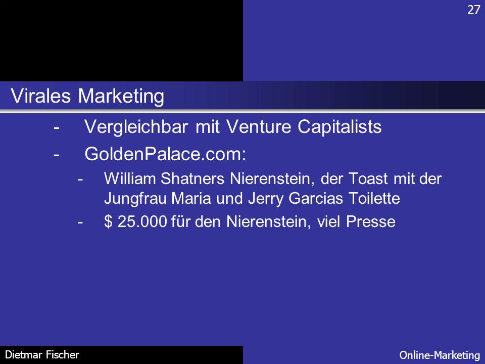 Virales Marketing Vergleichbar mit Venture Capitalists