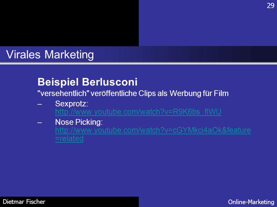 Virales Marketing Beispiel Berlusconi