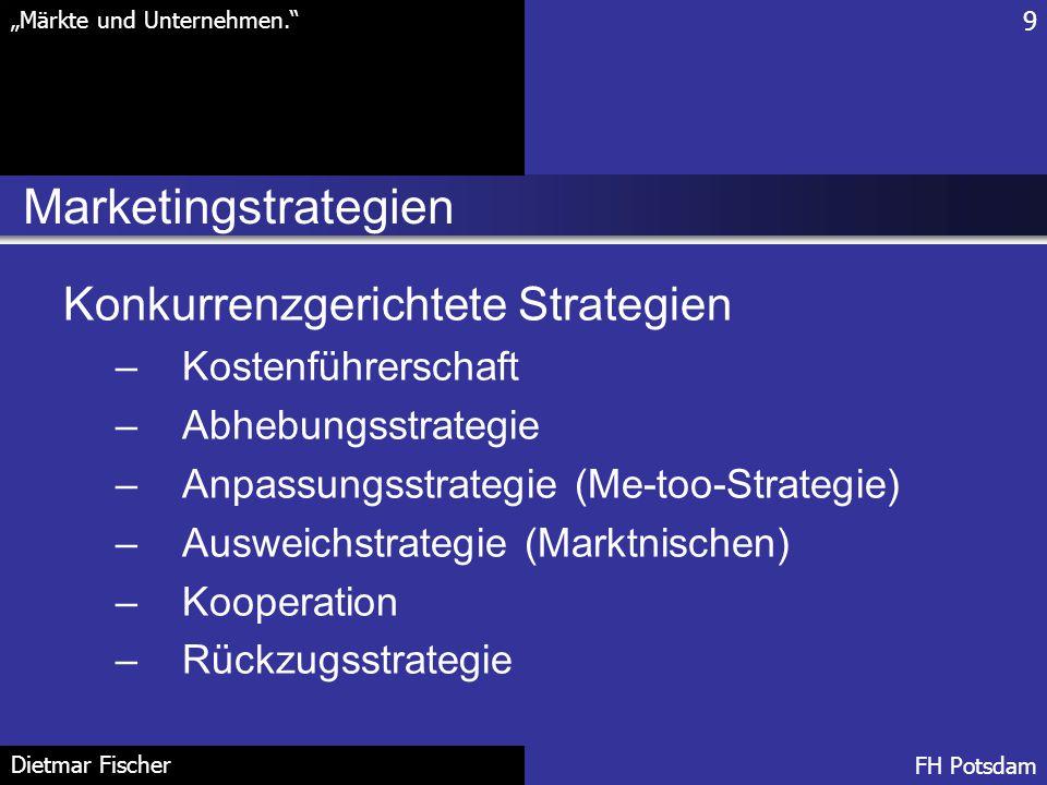 Marketingstrategien Konkurrenzgerichtete Strategien Kostenführerschaft