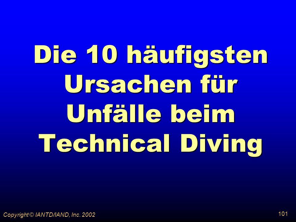 Die 10 häufigsten Ursachen für Unfälle beim Technical Diving