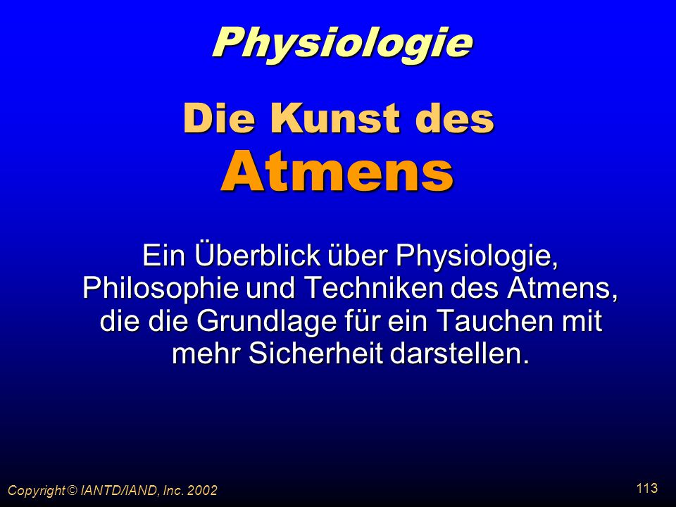 Physiologie Die Kunst des Atmens