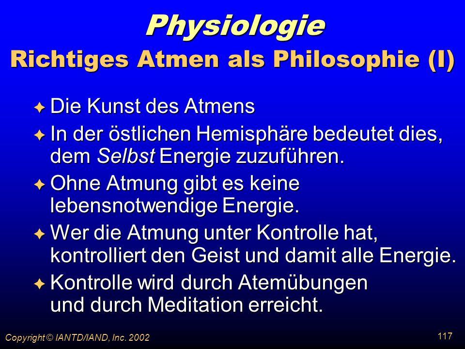 Richtiges Atmen als Philosophie (I)