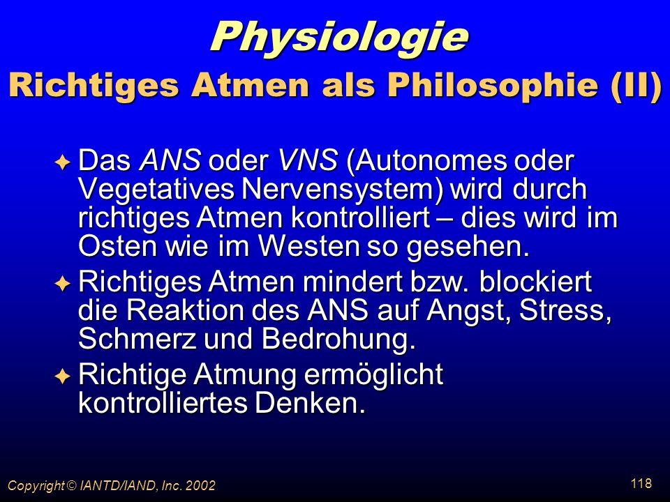 Richtiges Atmen als Philosophie (II)