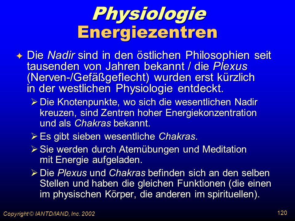 Physiologie Energiezentren