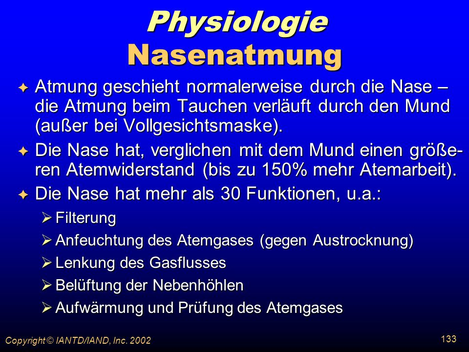 Physiologie Nasenatmung