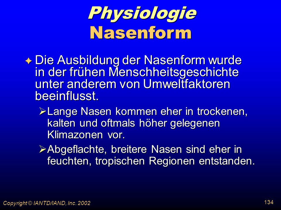 Physiologie Nasenform