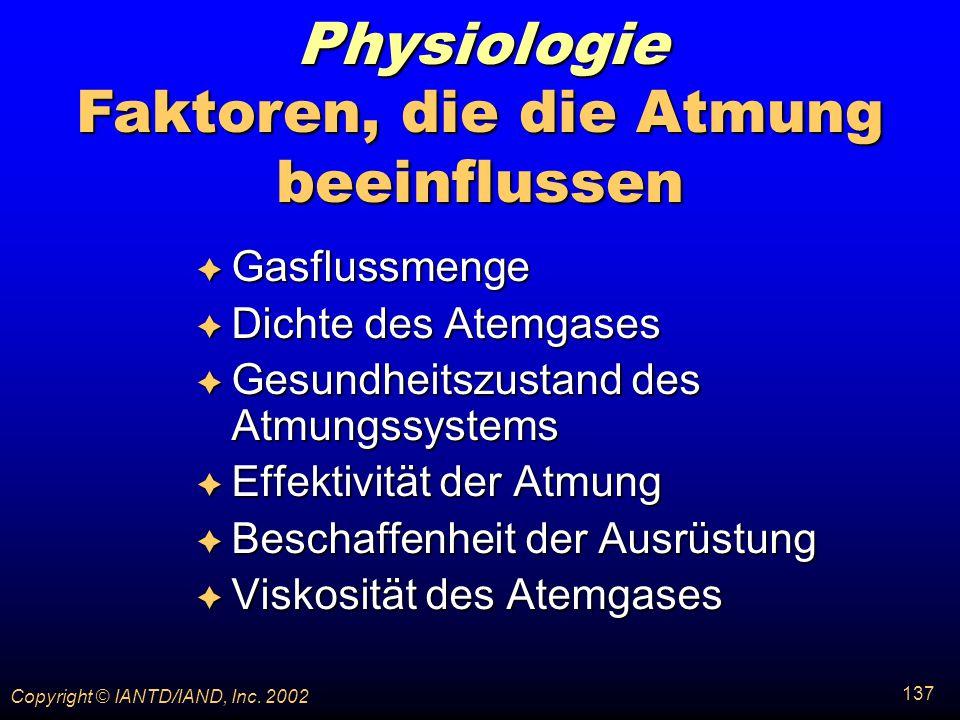 Faktoren, die die Atmung beeinflussen