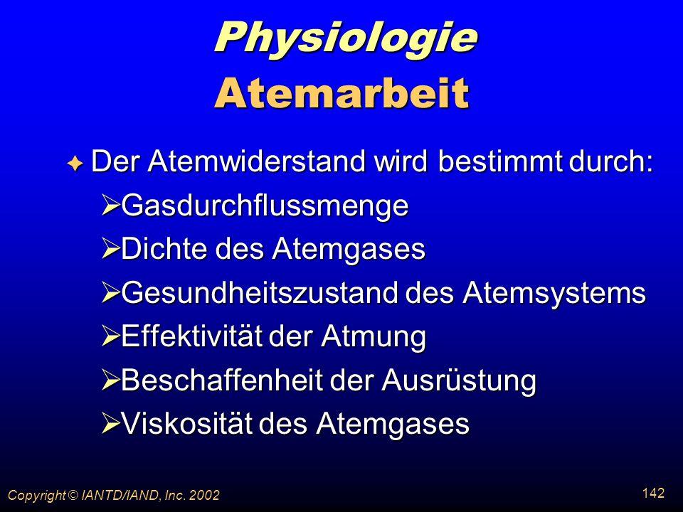 Physiologie Atemarbeit Der Atemwiderstand wird bestimmt durch: