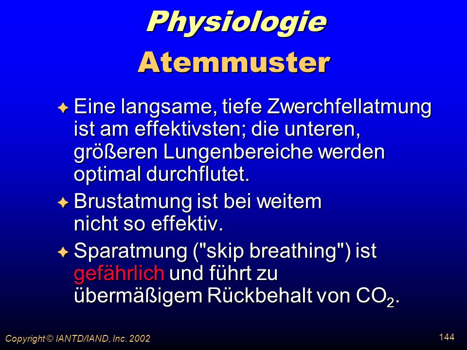 Physiologie Atemmuster