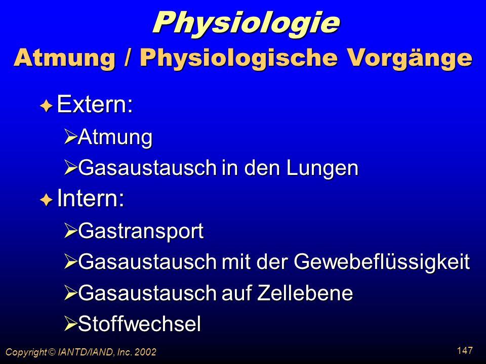 Atmung / Physiologische Vorgänge