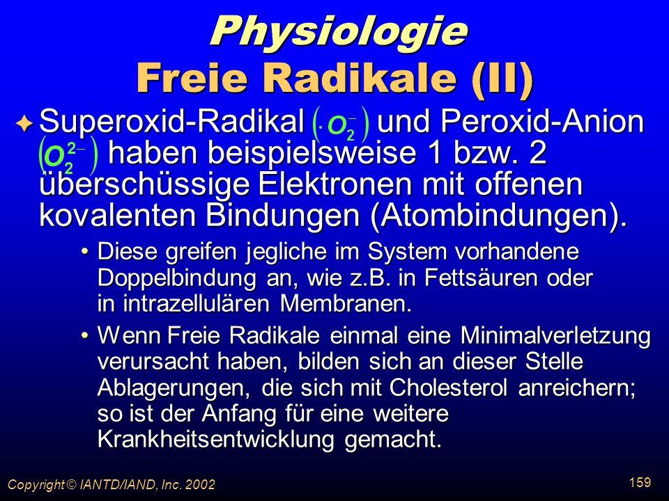 Physiologie Freie Radikale (II)