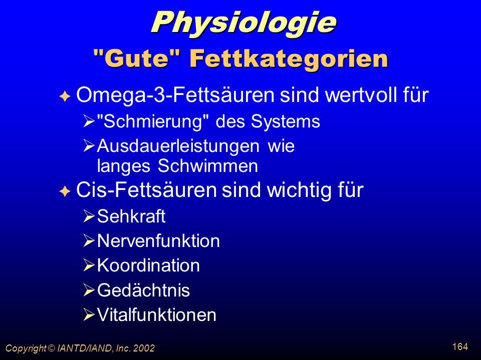 Physiologie Gute Fettkategorien Omega-3-Fettsäuren sind wertvoll für
