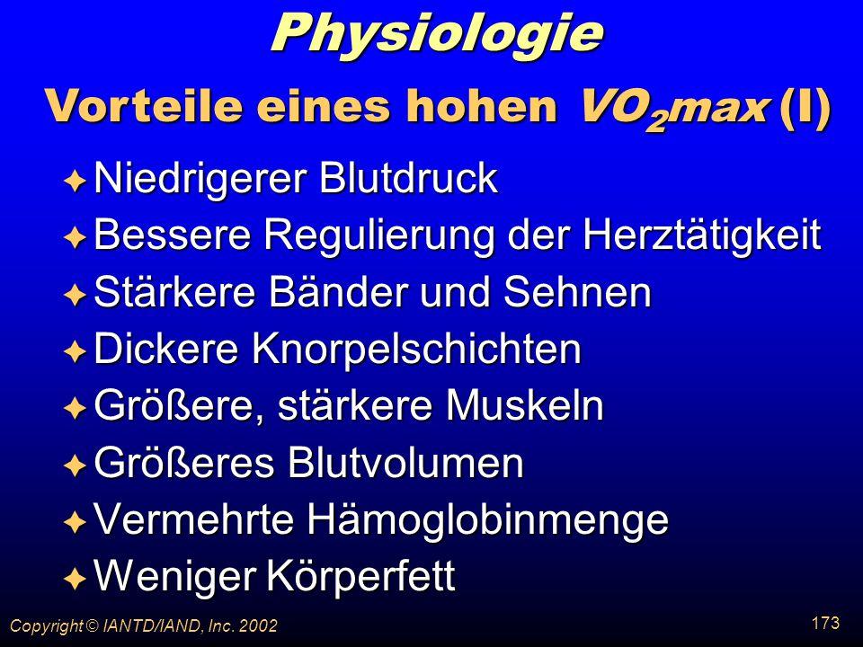 Vorteile eines hohen VO2max (I)