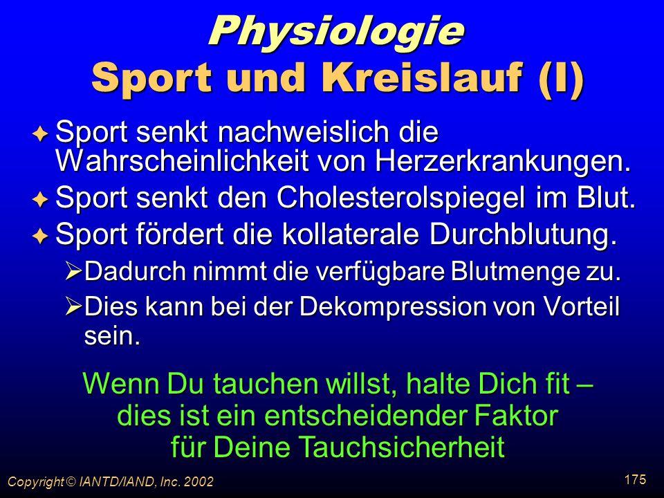 Sport und Kreislauf (I)